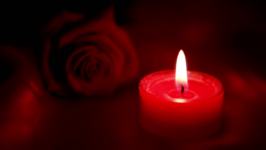 rose-and-candle